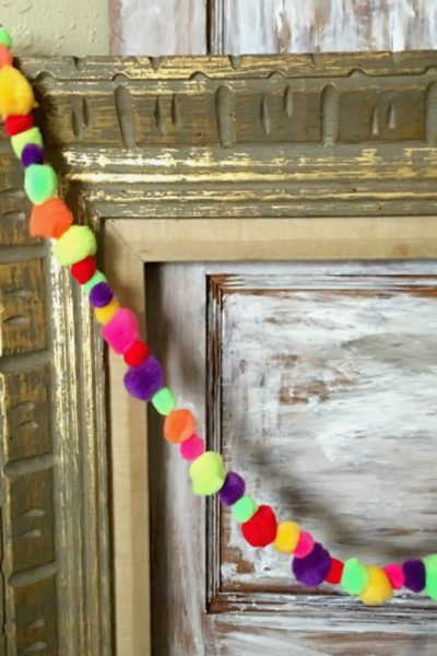 Colorful Craft Pom Pom Garland