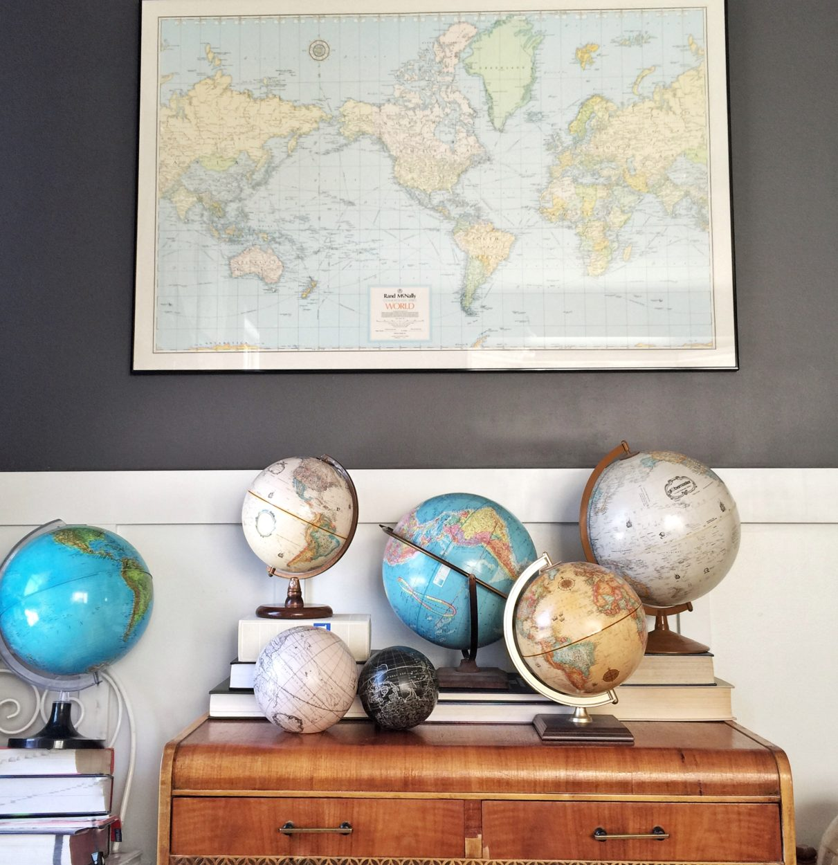 Vintage Home Decorating Decorating with vintage items home tour salvage sister and mister maps and vintage globes are fun to decorate a home with you can often find sisterspd