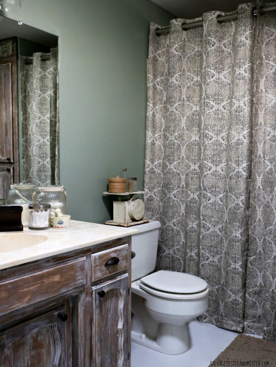 Truth In Makeovering Low Cost Rustic Bathroom Makeover Salvage Sister And Mister
