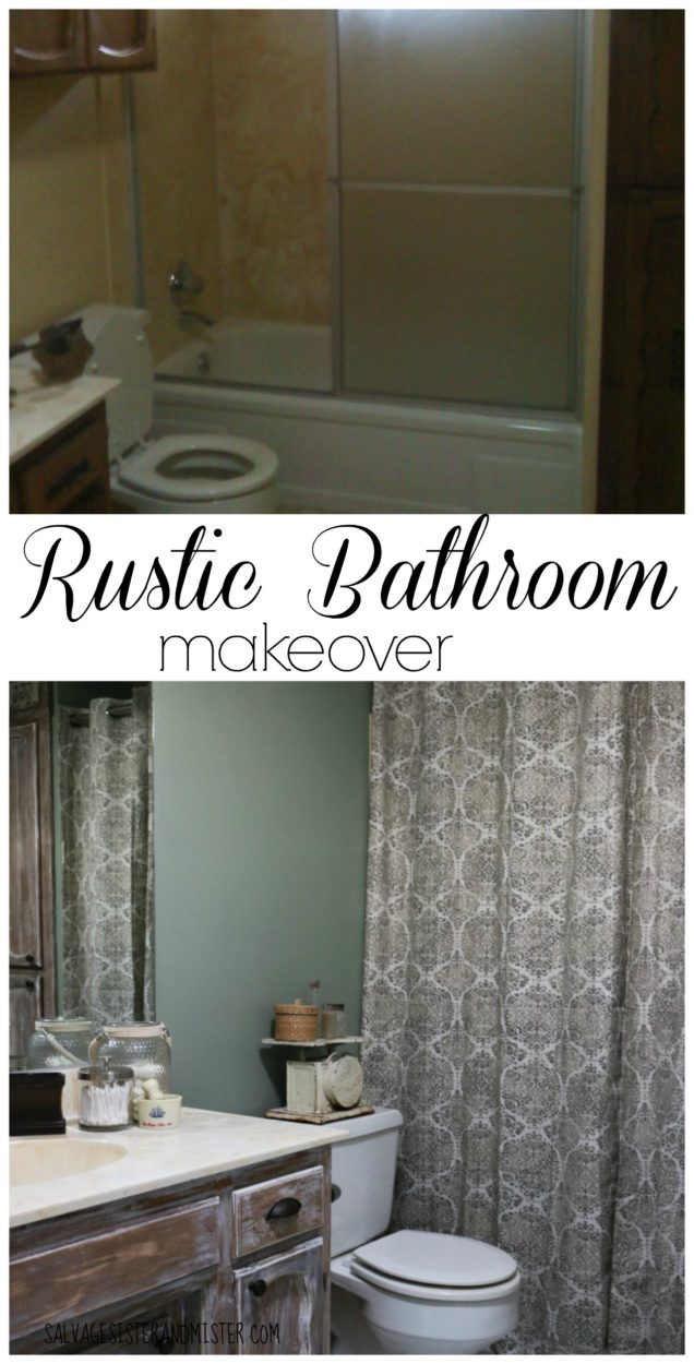 We participated in a $100 room challenge. Did we make our budget? Come and see this DIY project. Bathroom remodels can cost around $11,000. Here is a low cost rustic bathroom maekover that is fixer upper style. Perfect for the rustic farmhouse feel. With a little time, money, and supplies you can update any room.