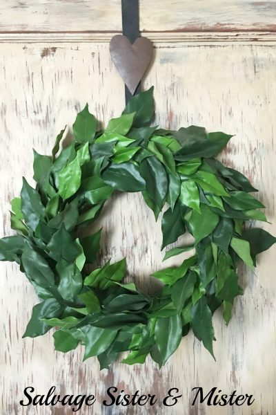 How to Make a Bargain Faux Magnolia Wreath