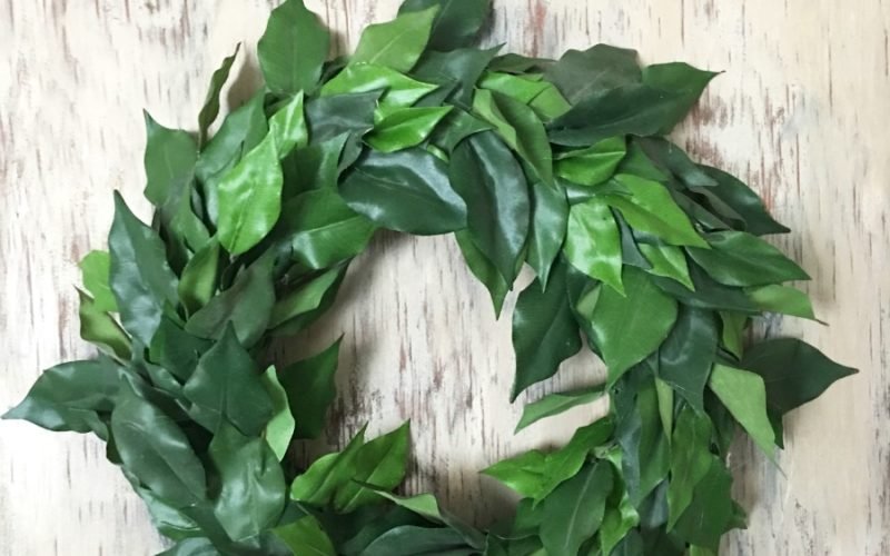 How to Make a Bargain Faux Magnolia Wreath