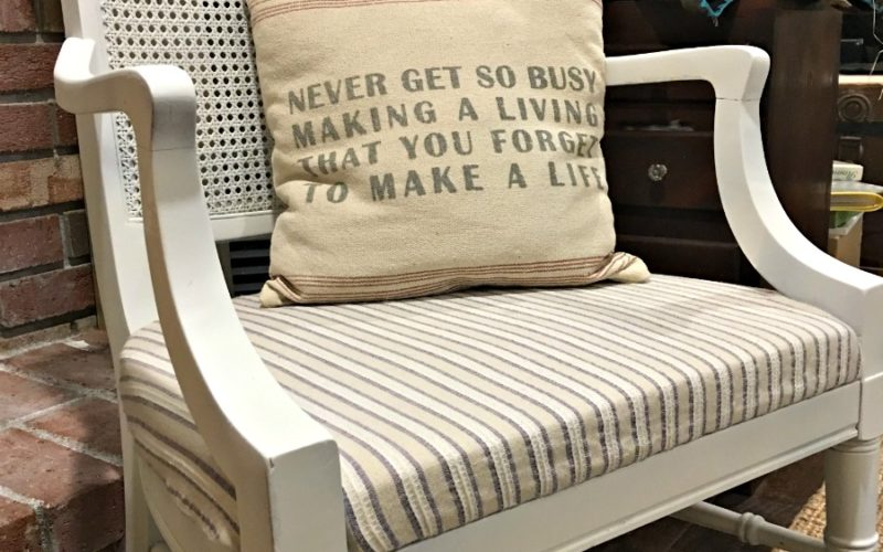 One Room Challenge – Yard Sale Chair Makeover