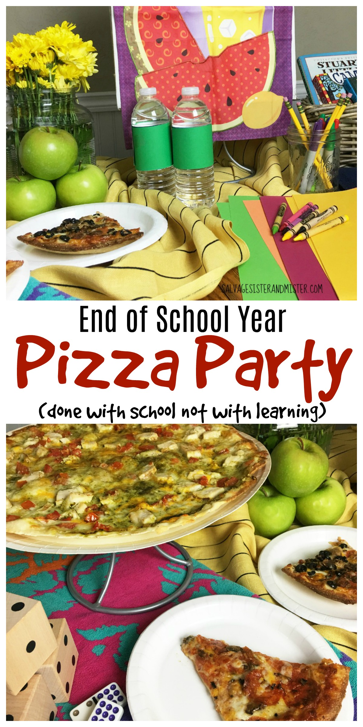 Kids might be done with school but that doesn't mean learning has to stop.  Done wtih school not with learning end of the school year pizza party is to encourage fun learning activities over the summer to keep the learning going.  Gather art supplies, books, and games that are fun but will foster their learning when they aren't in the classroom.  A great way to celebrate school summer break.  Kids activities to fight boredom.  Pick up some yummy pizza from Papa Murphys while your at it for a sumple summer dinner.  On Tuesdays' their large pizza's are just $10.  What a fun way to celebrate summer.  #dealsat425 #ad @papamurphys