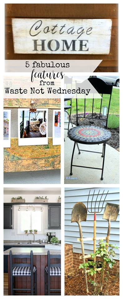 Have a DIY project, recipe, craft, or home decor that makes the best with what you have?  Link up party to share and connect with others.  Or come to be inspired each week with lots of repurpusing, upcycle, and reusing.  Perfect for frugal living.  Join us at Waste Not Wednesday