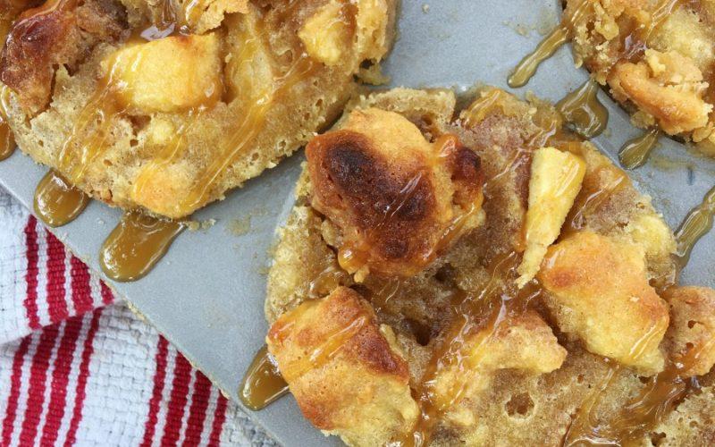 Apple Caramel Donut Bread Pudding Muffins