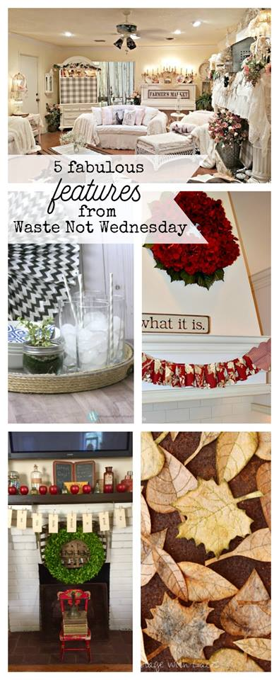 Waste Not Wednesday linky party is live.  Come add your frugal, money saving, no wate, upcycle, repurpose, reuse, etc project, craft, DIY, or recipe to the party.  Or come be imspired by all the great low wast eprojects.