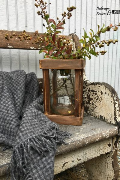 Thrifted Faux French Demijohn with Crate