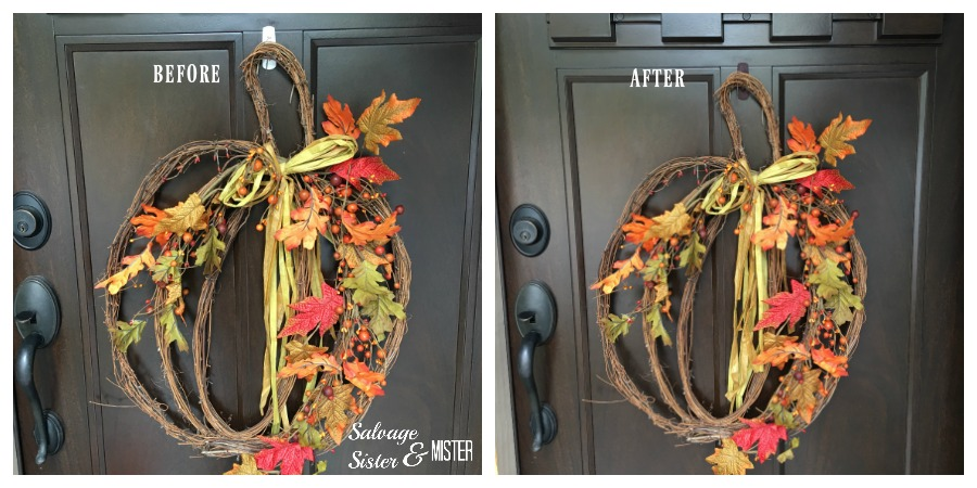 Merveilleux Before And After Painting My Command Hook For My Front Door Wreath.