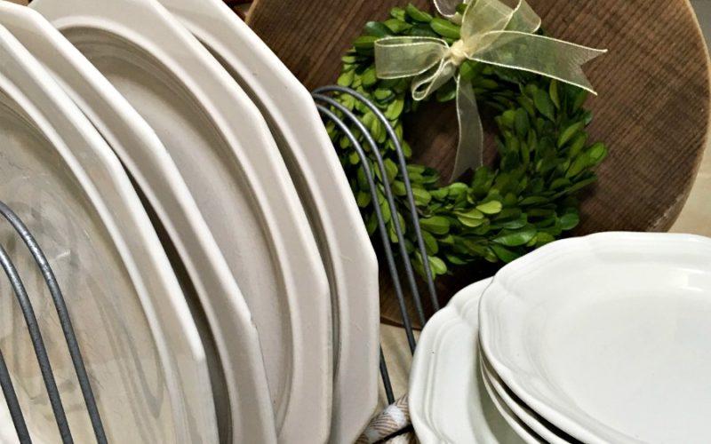 DIY Farmhouse Chicken Feeder Trough Plate Rack