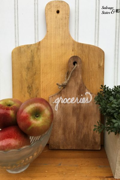 Thrift Store Bread Board Grocery List Tablet
