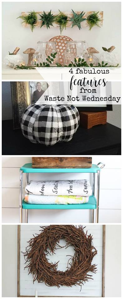 Waste Not Wednesday linky party. Link up your frugal diy, recipe, or craft or be inspired by other waste less upcycle reuse or reupurpose projects.