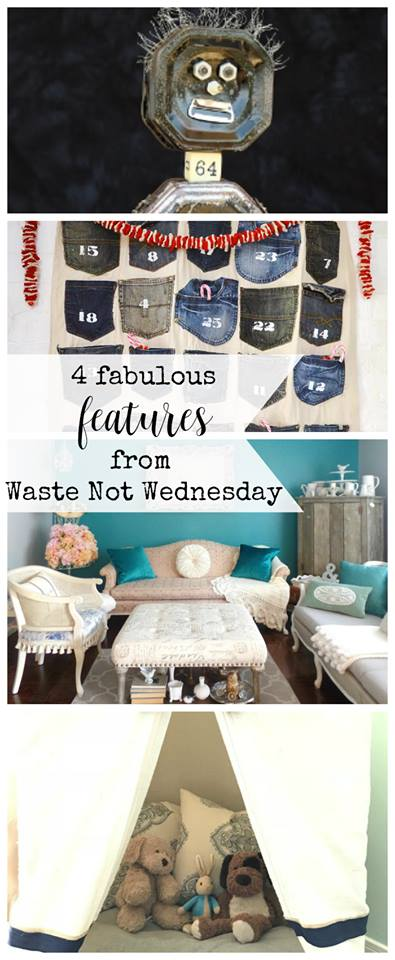 Waste Not Wednesday Linky Party. Great for bloggers to share their frugal, less waste, repurpose, DIY, budget friendly, upcycle, etc posts. Join the party
