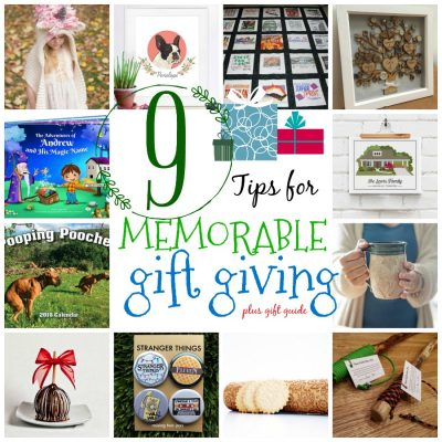 9 tips for memorabel gift giving and a shopping guide. Look for unique, handmade, meaningful gift ideas for everyone on your list.