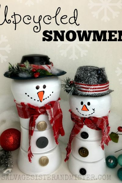 Unstoppables Bottle Upcycled Snowmen