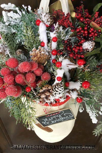 Feed Bag Christmas Door Decoration