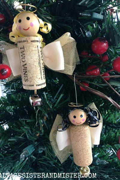 DIY Wine Cork Angel Ornament