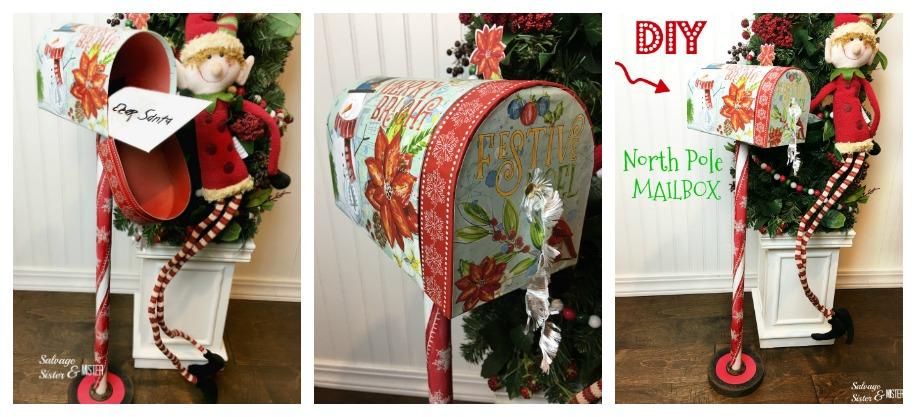diy north pole mailbox - letters to santa