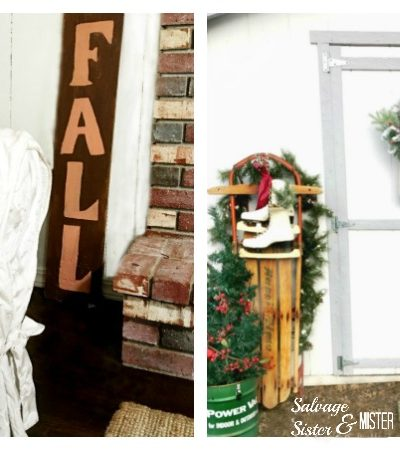 Reversible Rustic Holiday Sign