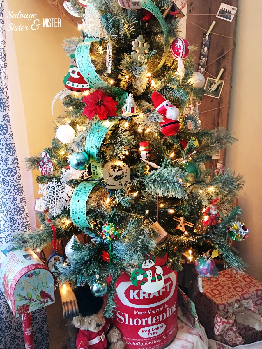 sharing our simple vintage christmas tree this tree uses mostly diy thrited and
