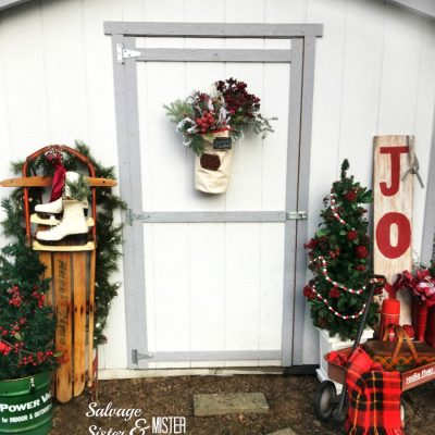 Vintage Inspired Holiday Porch