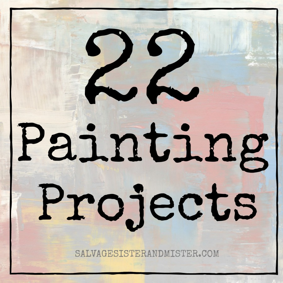 22 painting projects to update what you have into something new. Crafts, DIY, even fashion can be updated with paint. Be inspired by these projects to create your own repurposed, reuse, or upcycled item and give it new life.