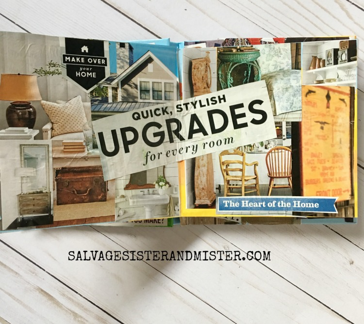 Vision board book salvage sister and mister for Home design vision board
