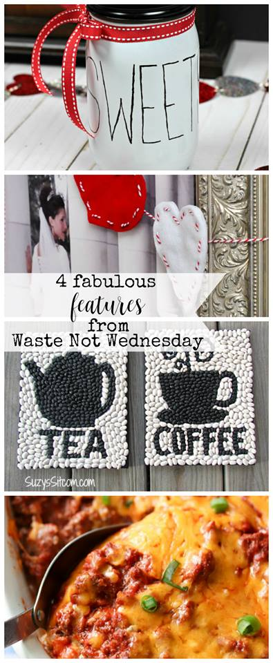 Waste Not Wednesday Linky Party week 89. Frugal, no waste, upcycle, repurposed IDEAS, CRAFTS, RECIPES, and DIY