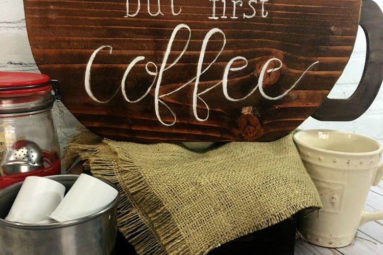 But First Coffee DIY Sign