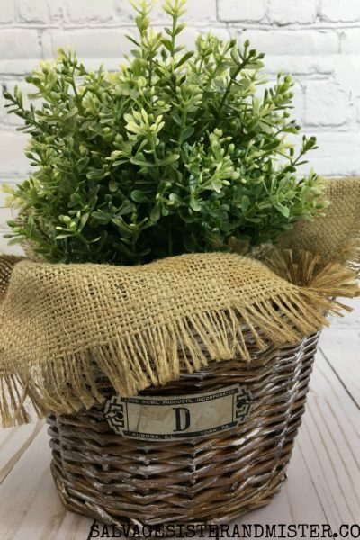 Easter Basket Makeover – Farmhouse Style