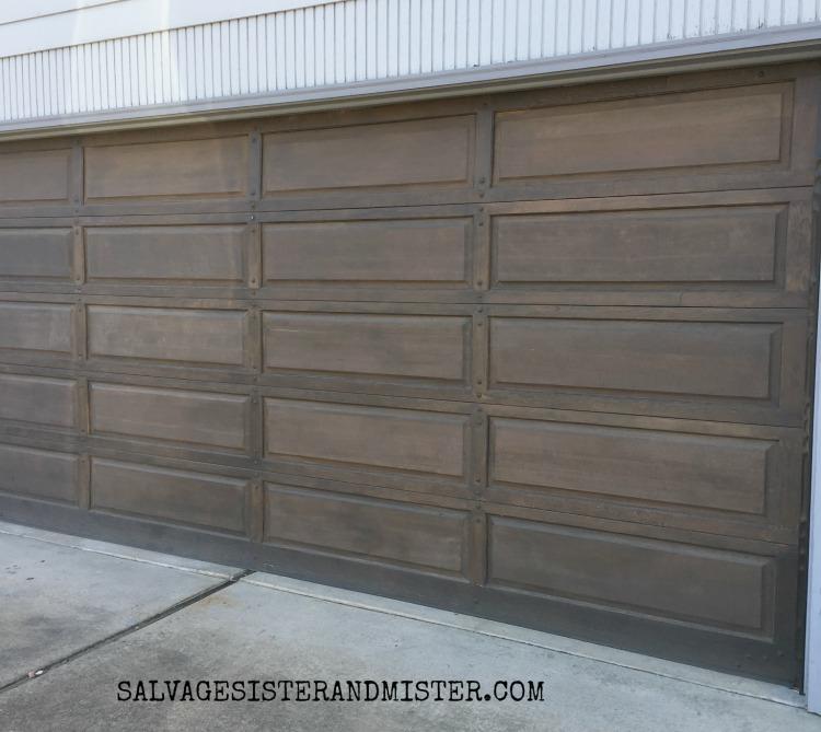 STaining a wood garage door - year update