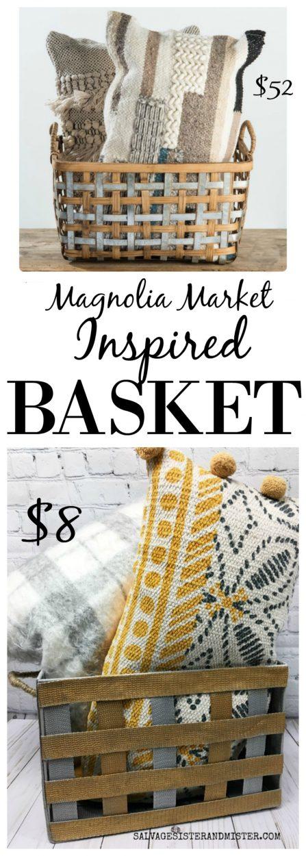DIY Magnolia Market Inspired Basket with LavaSoap #sponsored - Harrison #DIYProjet #farmhouse #bargaindiy