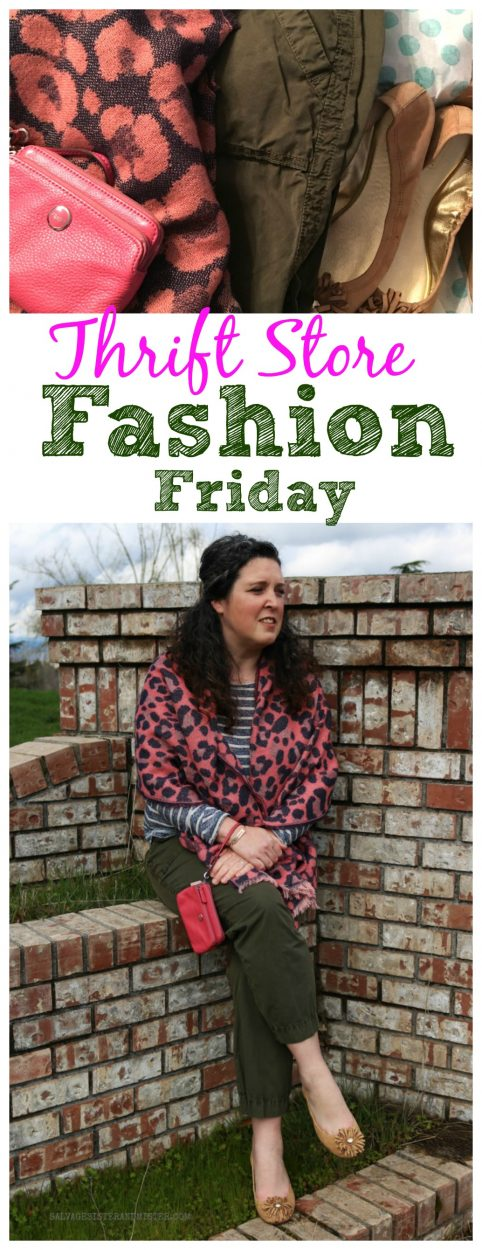 Clothes shopping on a budget. Thrift Store Fashion Friday is sharing #secondhandfirst #sponsored