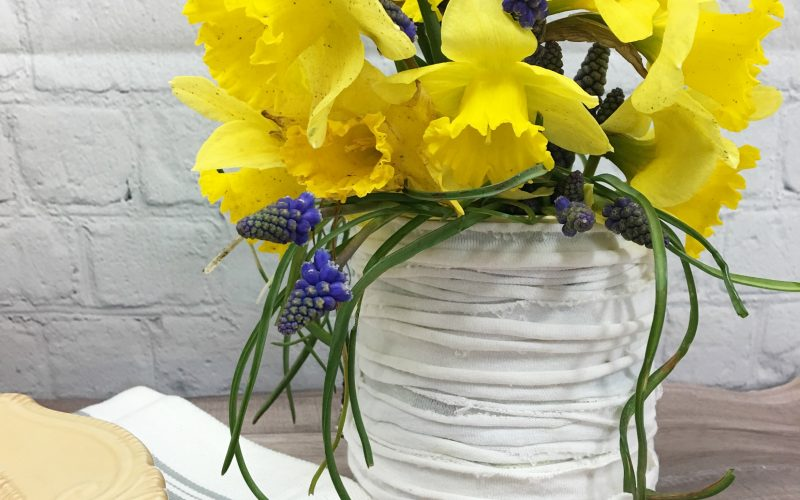 Farmhouse Tin Can Vase Upcycle
