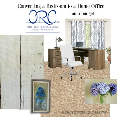 One Room Challenge – Converting Bedroom to Home Office