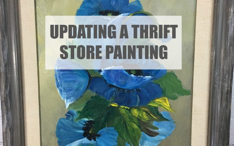 Updating a Thrift Store Painting