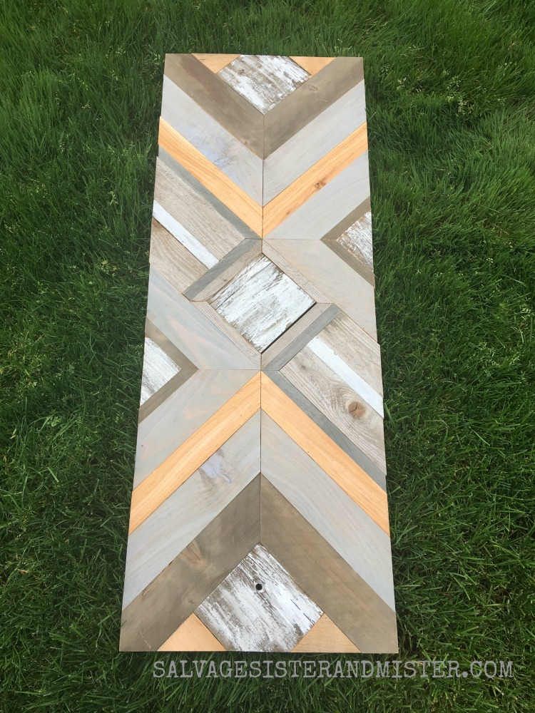 Creating a DIY wood quilt wall art from some scrap wood pieces #reuse #repurpose #woodprojects
