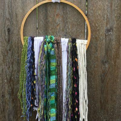 Embroidery Hoop Yarn Art Wall Hanging