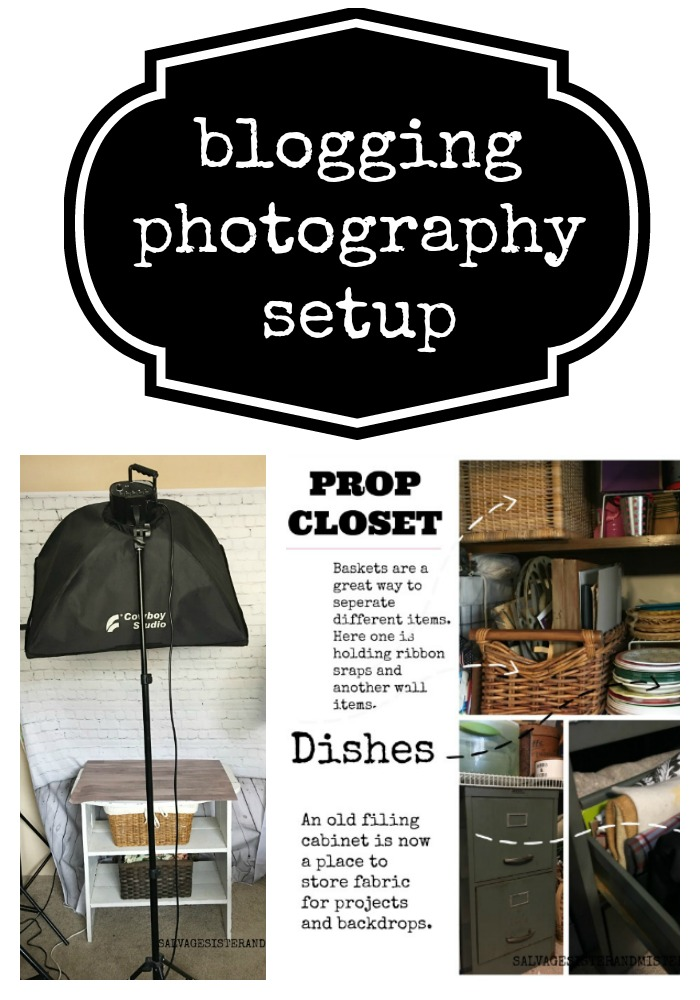 One Room Challenge - Blogging photography setup as part of our bedroom to office makeover #homeoffice #blogging