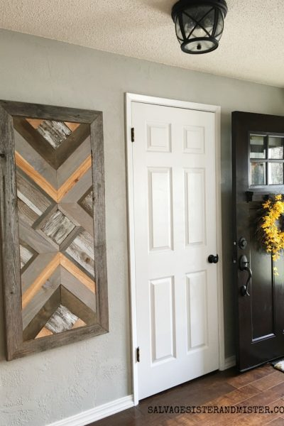DIY Wood Quilt Wall Art