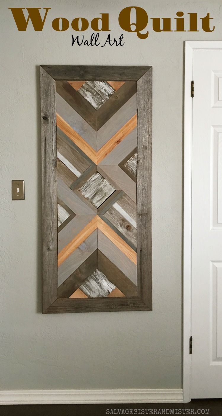 Making a DIY Wood Quilt wall art from wood scraps #woodprojects #diy #reuse