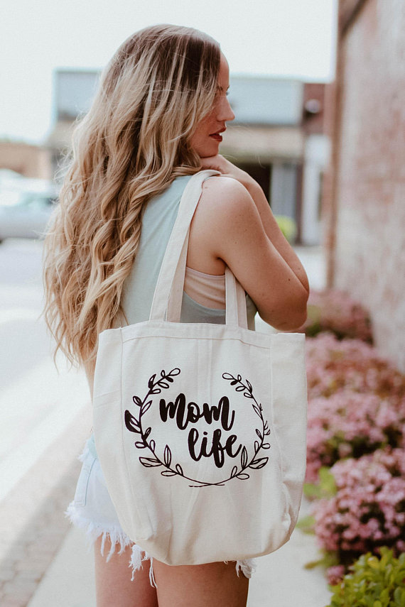 affiliate link - mom life tote bag