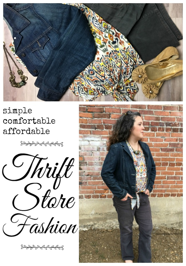 simple comfortable affordable thrift store fashion #everydayfashion #thriftfashion #bargainfashion