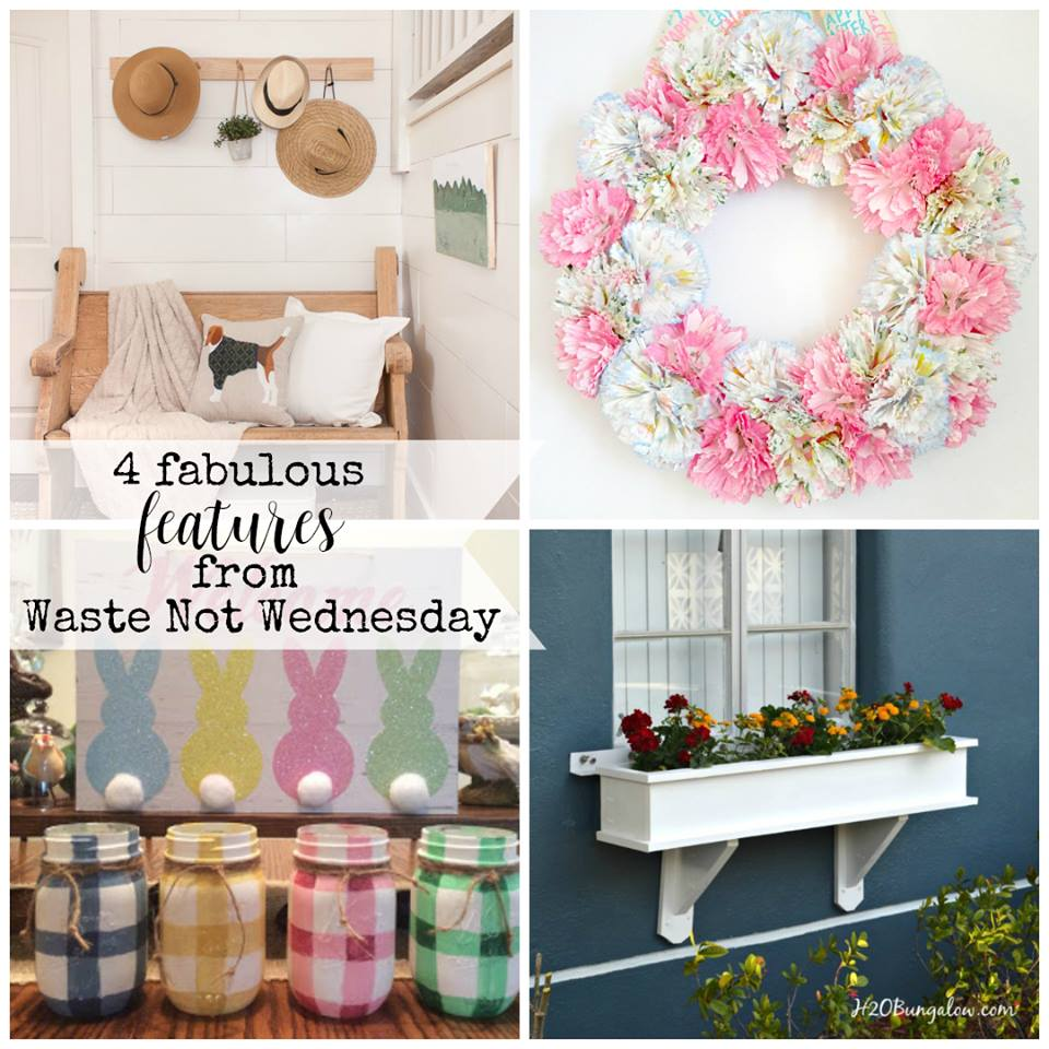 Waste Not Wednesday Linky Party - Link up your projects or be inspired by top bloggers waste less home decor, recipes, craft, diy, and tips. #wastenotwantnot #reuse #frugal