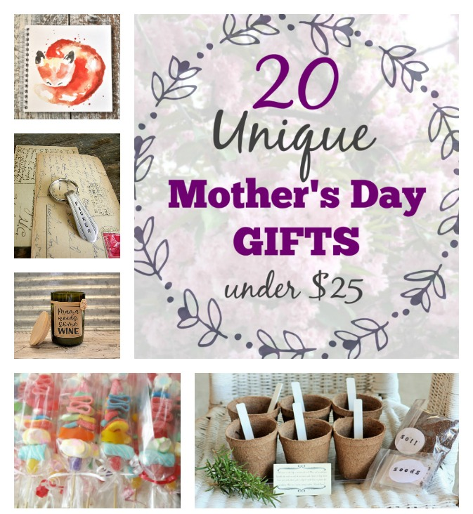 unique mothers day gifts under $25