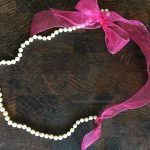 DIY Thrifted Pearl and Ribbon Necklace