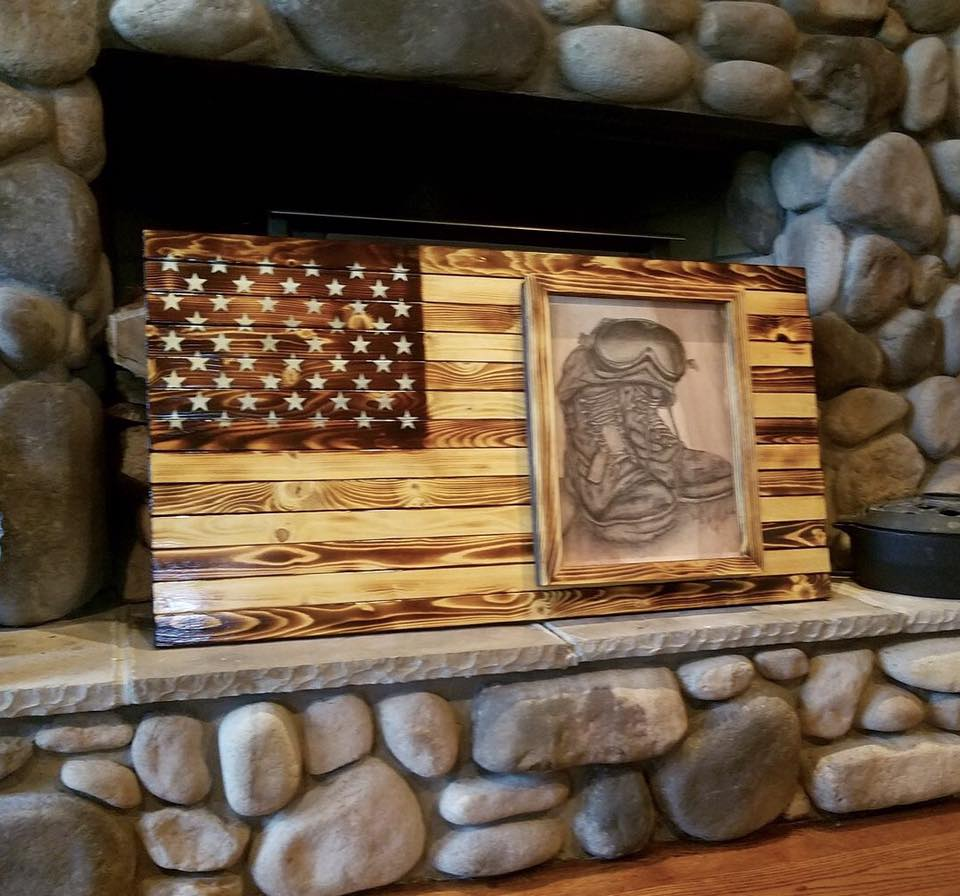 This special piece was a team effort full of gratitude & love for a veteran who has served our country with 4 tours to the Middle East.