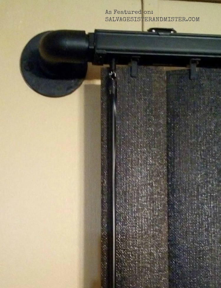 updating vertical blinds to look like wood and farmhouse style