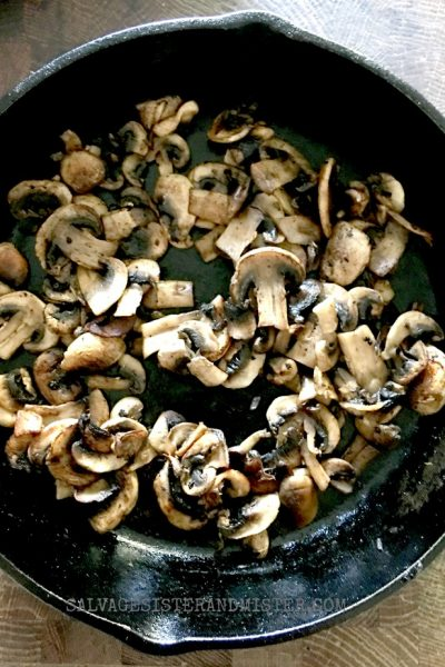 Freezer Ready Sauteed Mushrooms