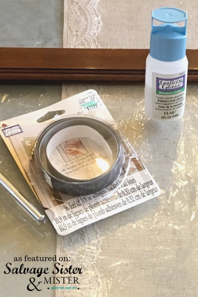 Faux Leaded Glass Supplies